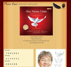 tampilan laman puisi-esai.com via Sahlul Fuad