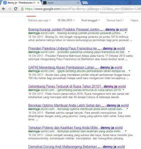9 Artikel Baru di dennyja-world.com 18 Oktober 2013 via Sahlul Fuad