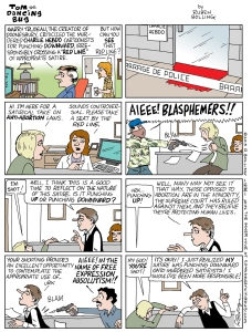 Cartoon atas Absurdnya Kebebasan Absolut yang Diusung Majalah Charlie Hebdo (Credit: Ruben Bolling)