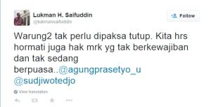 Kicau Menag @lukmansaifuddin