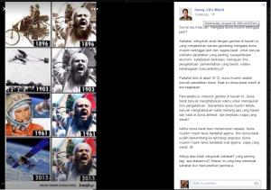 Gambar dan Status Facebook Denny J.A.