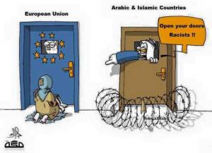 Siapakah yang menggugat? Negara Timur Tengah-kah atau Turki? [Turki bisa disebut Eropa juga bisa disebut 'bagian dari dunia Arab']. Benarkah Negara Timur Tengah tutup mata terhadap para pengungsi? Benarkah Eropa membuka pintu sejak awal terhadap para pengungsi Suriah? Bagaimanakah kisah sebenarnya?