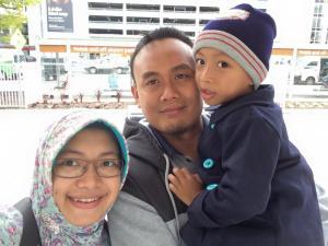 7 Maret 2015, Anak dan IStriku sampai di Tullamarine, Melbourne