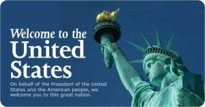 """Selamat Datang ke Amerika dengan Foto Patung Liberti - Sebuah """"Flyer"""" akan Kebebasan dan American Dream yang Hanya Ada di Amerika Serikat (credit: US Citizenship and Immigration Services)"""