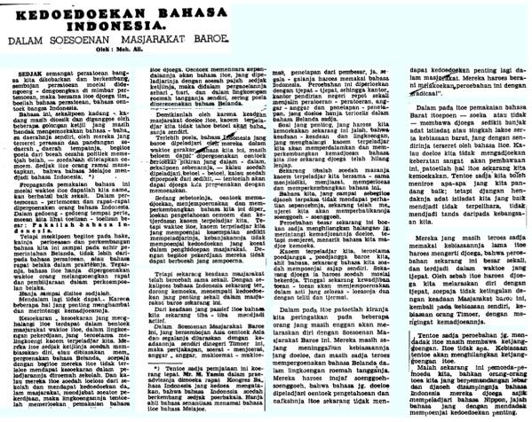 Soeara Asia, 2 Juni 1942.